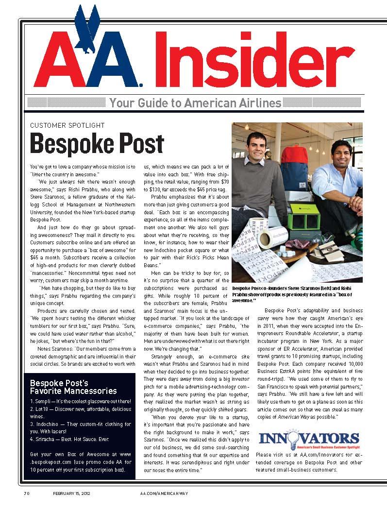 AA Insider Bespoke