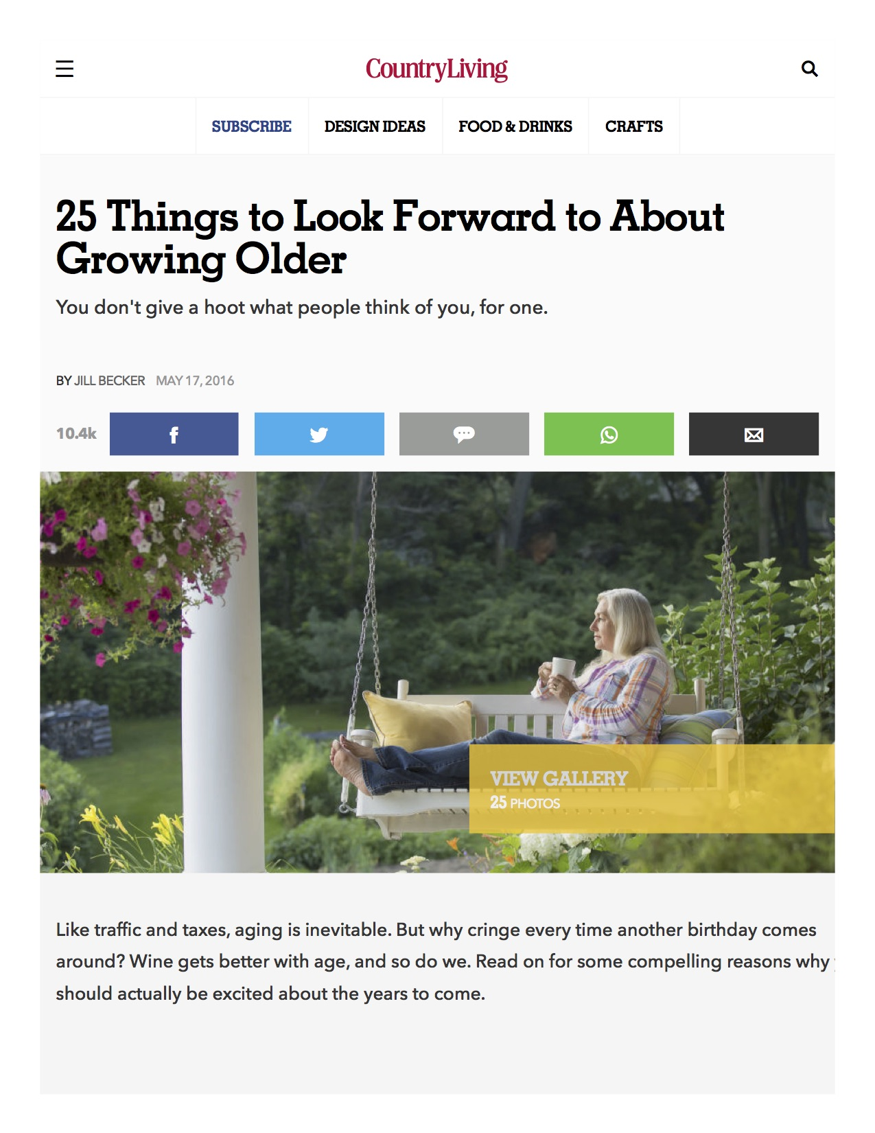 CountryLiving Aging