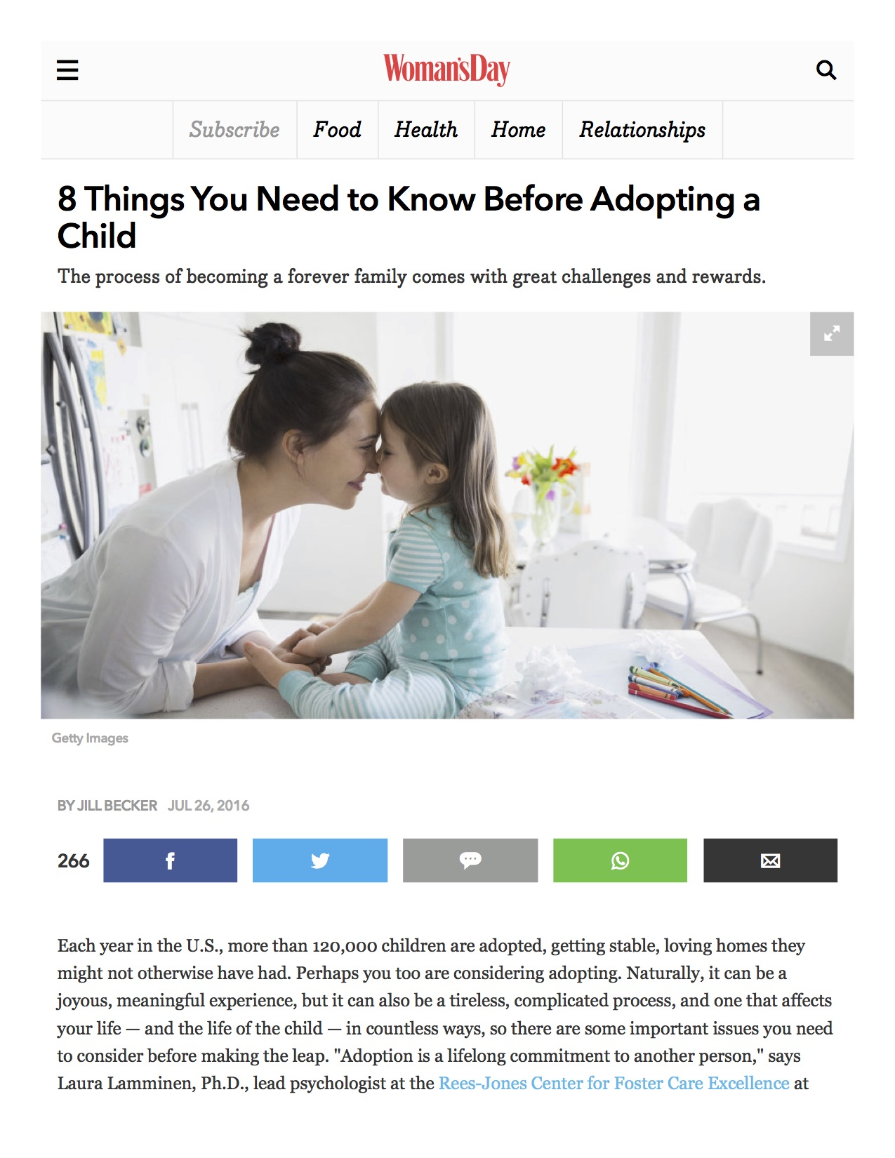 WomansDay Adoption