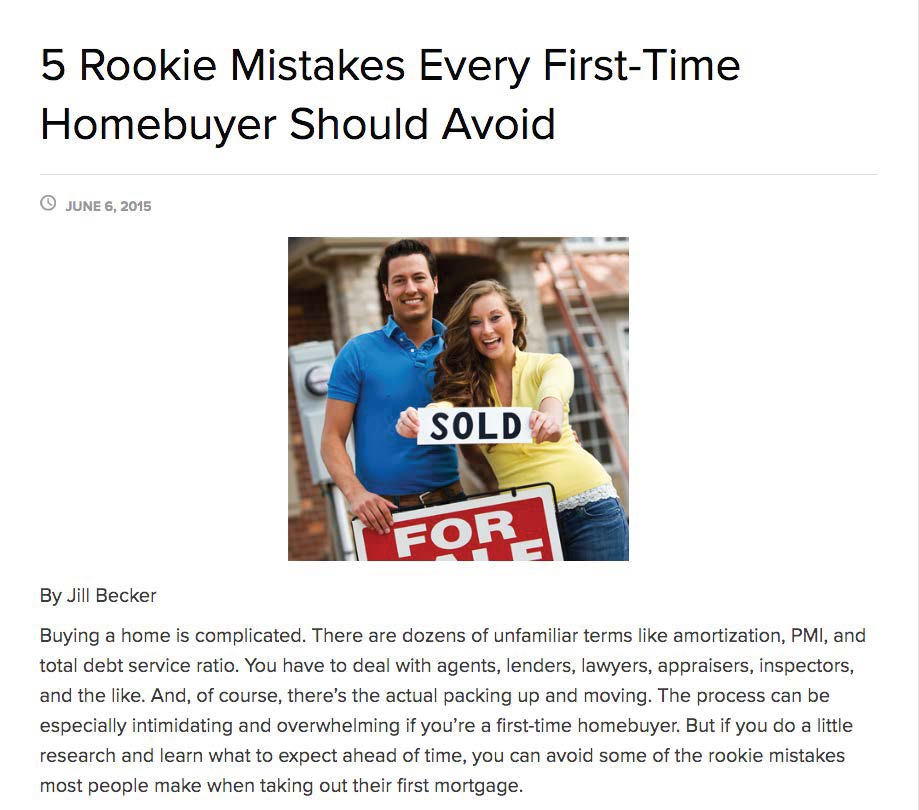 5 Rookie Mistakes